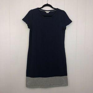 Boden Slub Tee Shirt Shift Dress Navy 8R